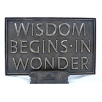 Wisdom Begins in Wonder Plaque