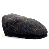 Hanna Blue Tweed Vintage Snap Cap