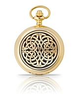 Gold Plated Never Ending Knot Pocket Watch (2)
