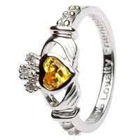 Silver Claddagh Birthstone Rings November (3)