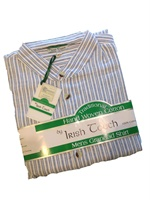 Irish Grandfather Shirt - Blue Stripe
