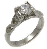 14k White Gold Diamond Celtic Diamond Ring (3)