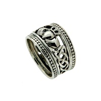 Keith Jack Sterling Silver Shield Claddagh Ring (2