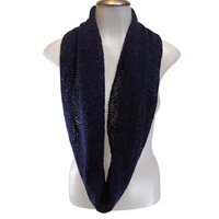 Bill Baber Orkney Snood - Infinity Scarf, Navy (2)