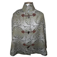 Calzeat Celtic Knot Cape - Fern (2)