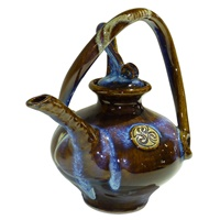 Colm De Ris Irish Pottery,Tea Pot Blue (2)