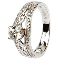 14k White Gold Diamond Celtic Ring (2)