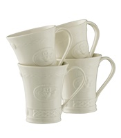 Belleek Claddagh Mugs Set of 4 (2)