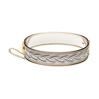Celtic Weave Bangle- Silver and Gold