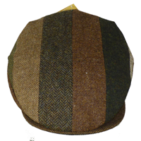 Hanna Hat Vintage Cap Striped Patch Brown