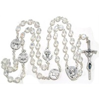 Clear Beaded Irish Rosary (2)