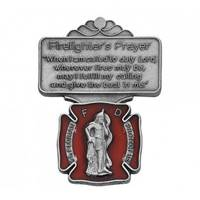 Firefighter Red Enamel Visor Clip (2)