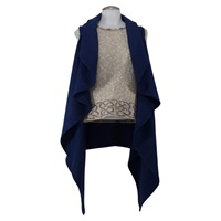 Rose -  An Irish Ladies Cape -blue (2)
