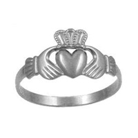 Sterling Silver Maids Claddagh Ring (2)