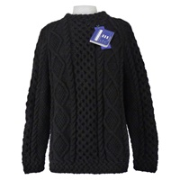 Hand Knitted Irish Celtic Weave Pull Over Wool Swe