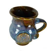 Colm De Ris Irish Pottery Round Mug Blue (BA2) (2)
