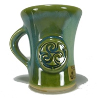 Colm De Ris Irish Pottery Straight Mug Green(A1) (