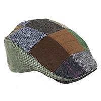 Hanna Hats Patchwork Donegal Touring Cap