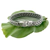 Keith Jack Sterling Silver Celtic Weave 8 Bracelet (2)