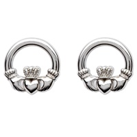 Sterling Silver Claddagh Earrings Post (2)