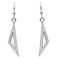 Sterling Silver Swarovski ST52 Drop Earrings (2)
