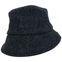 Hanna Hat Wee Thatch Tweed Hat, Navy Herringbone (2)