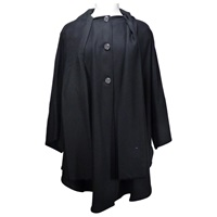 Ladies Long Cape, Black (2)
