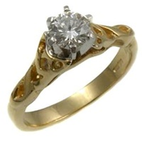 14k Yellow Gold Diamond Celtic Diamond Ring