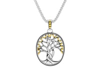 Keith Jack Tree of Life Sterling Silver and 18K Gold