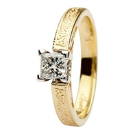 Aishlin Yellow Gold Princess Cut Engagement Ring