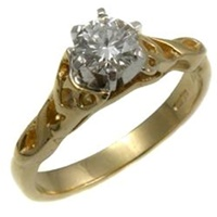 14k Gold Diamond Celtic Diamond Ring SETTING ONLY