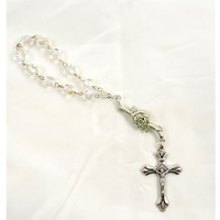 Clear Rose Finger Rosary