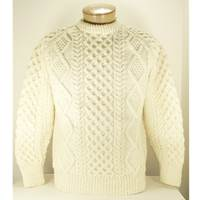 Hand Knitted Irish Celtic Honeycomb and Diamond Wo