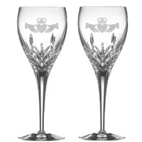 Claddagh Friendship Large Wine Glass Pair