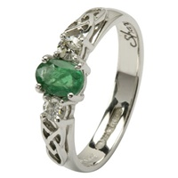 Celtic Engagement Ring - Trinity knot design with