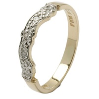 14K Gold Matching Wedding Ring For Diamond Claddag