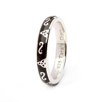 Black Enamel Stacking Ring