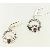 Claddagh Birthstone Earrings June