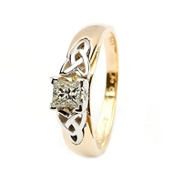 14kt Yellow & White Gold .33ct Princess Diamond Ri