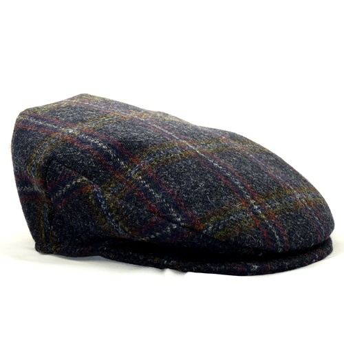 Hanna Country Plaid Tweed Vintage Snap Cap
