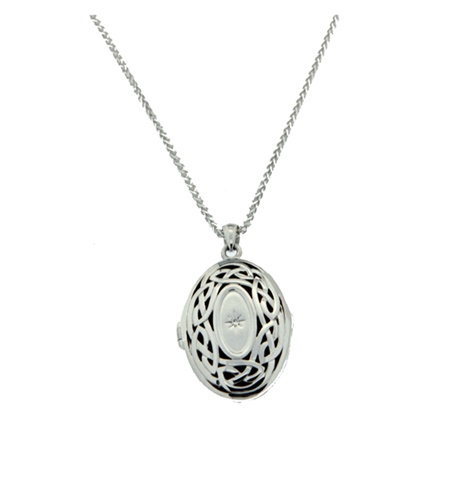 Image for Keith Jack Oval Center Locket