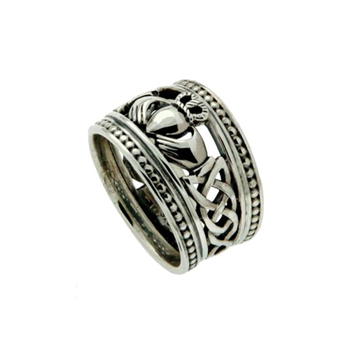 Keith Jack Sterling Silver Shield Claddagh Ring