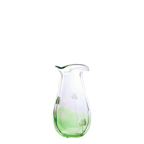 Image for Irish Handmade Glass Shamrock Posy Vase