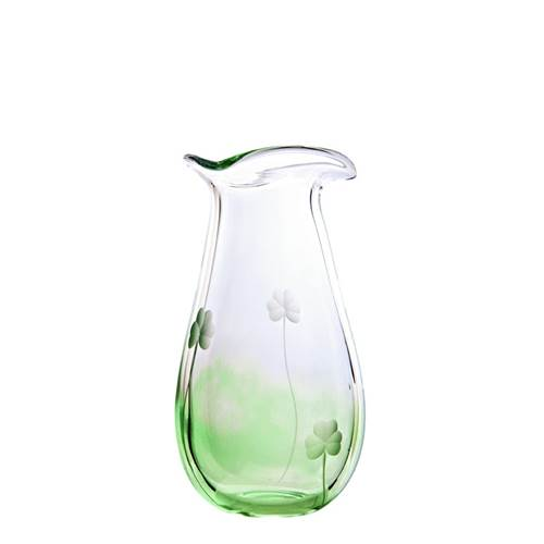 Image for Irish Handmade Glass Shamrock Medium Vase