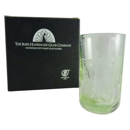 Image for Irish Handmade Harp Shot or Pill Water Glass