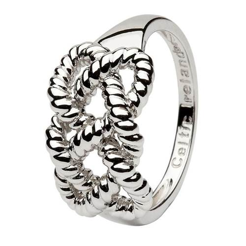 Image for Shanore Sterling Silver Irish Fisherman's Knot Ring