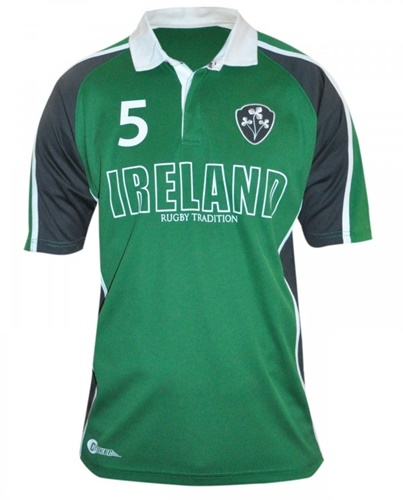 Croker Green Panelled Ireland Rugby Jersey
