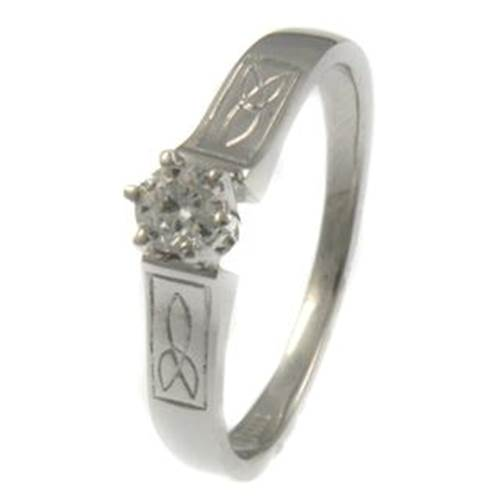 Image for Trinity Solitaire Diamond Ring