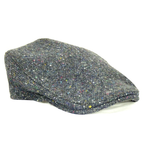 Hanna Hat Tweed Donegal Touring Cap, Grey