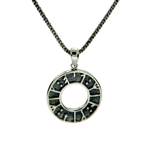 "Keith Jack Runes Collection Sterling Silver ""My love, kiss me"" Necklace"